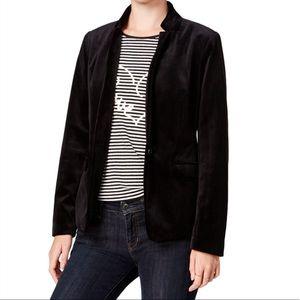 Maison Jules Women's Black Velvet Blazer Jacket